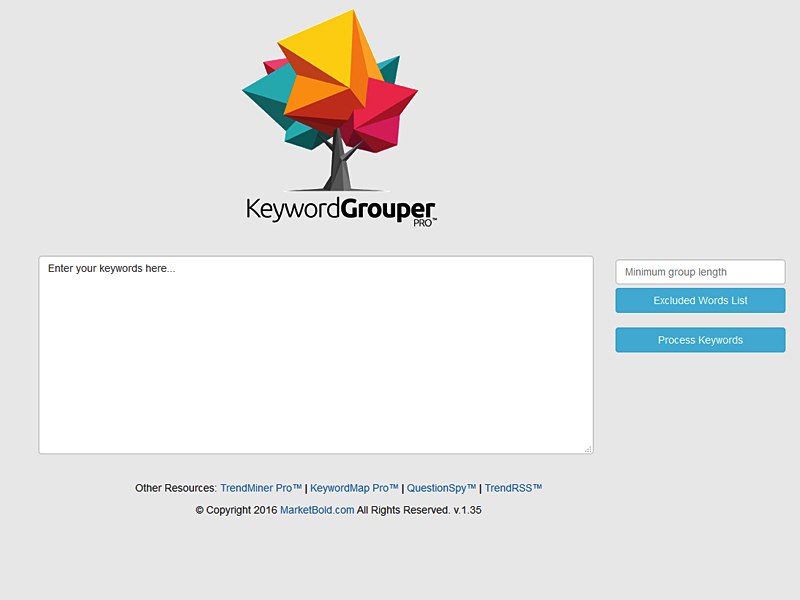 Keyword Grouper Pro Screen shot