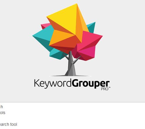 keyword grouper pro software screenshot