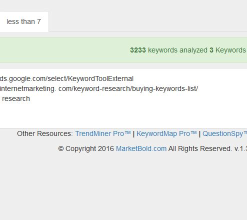 non-grouped keywords