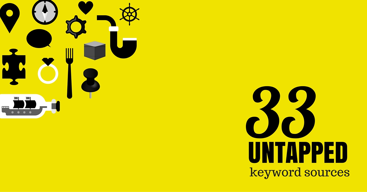 33 Untapped Keyword Sources