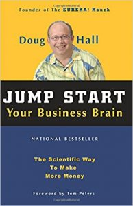 The cover of the paperback edition of the book Jump Start Your Business Brain by Doug Hall
