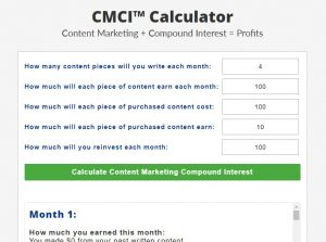 Content Marketing Compound Interest™ – $8,540+ Per Month Plan