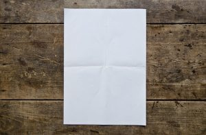 a folded piece of paper